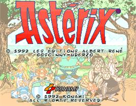 Title screen of Asterix on the Arcade.