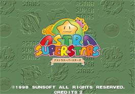 Title screen of Astra SuperStars on the Arcade.