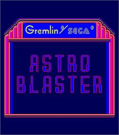 Title screen of Astro Blaster on the Arcade.