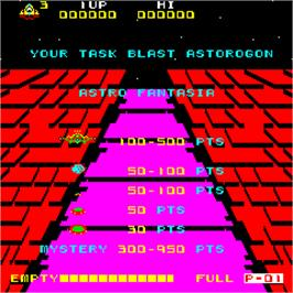 Title screen of Astro Fantasia on the Arcade.