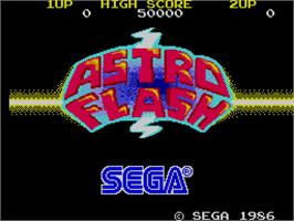 Title screen of Astro Flash on the Arcade.