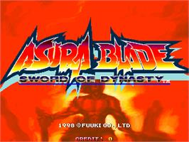 Title screen of Asura Blade - Sword of Dynasty on the Arcade.