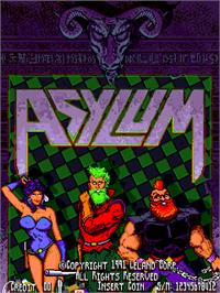 Title screen of Asylum on the Arcade.