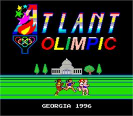 Title screen of Atlant Olimpic on the Arcade.