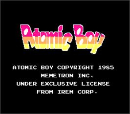 Title screen of Atomic Boy on the Arcade.