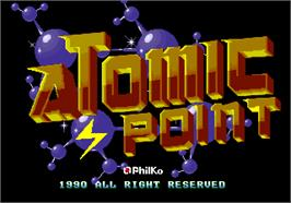 Title screen of Atomic Point on the Arcade.
