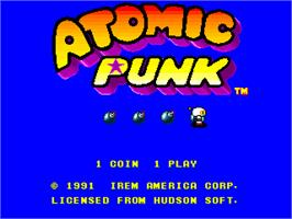 Title screen of Atomic Punk on the Arcade.