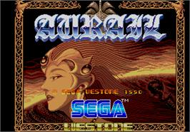 Title screen of Aurail on the Arcade.