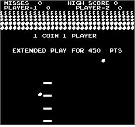 Title screen of Avalanche on the Arcade.