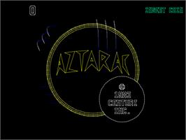 Title screen of Aztarac on the Arcade.
