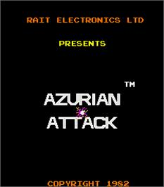 Title screen of Azurian Attack on the Arcade.