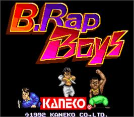 Title screen of B.Rap Boys on the Arcade.
