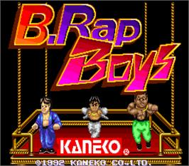 Title screen of B.Rap Boys Special on the Arcade.