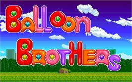 Title screen of Balloon Brothers on the Arcade.