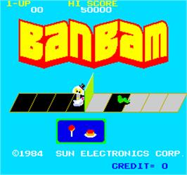 Title screen of BanBam on the Arcade.