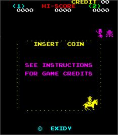 Title screen of Bandido on the Arcade.