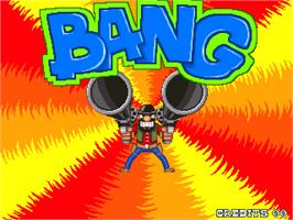 Title screen of Bang! on the Arcade.
