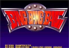 Title screen of Bang Bang Ball on the Arcade.