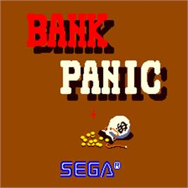 Title screen of Bank Panic on the Arcade.