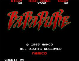 Title screen of Baraduke on the Arcade.