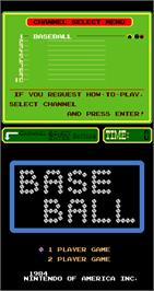 Title screen of Baseball on the Arcade.