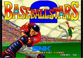 Title screen of Baseball Stars 2 on the Arcade.