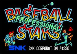 Title screen of Baseball Stars Professional on the Arcade.