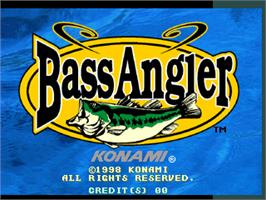 Title screen of Bass Angler on the Arcade.
