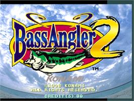 Title screen of Bass Angler 2 on the Arcade.