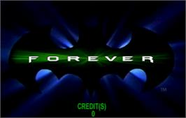 Title screen of Batman Forever on the Arcade.