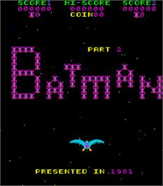 Title screen of Batman Part 2 on the Arcade.