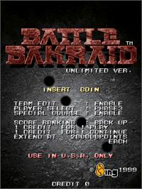 Title screen of Battle Bakraid - Unlimited Version on the Arcade.