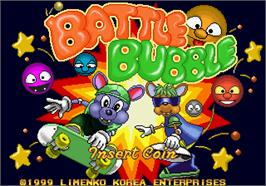 Title screen of Battle Bubble on the Arcade.