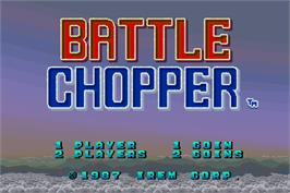Title screen of Battle Chopper on the Arcade.