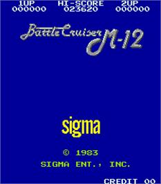 Title screen of Battle Cruiser M-12 on the Arcade.
