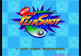 Title screen of Battle Flip Shot on the Arcade.