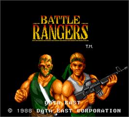 Title screen of Battle Rangers on the Arcade.