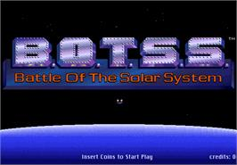 Title screen of Battle of the Solar System on the Arcade.
