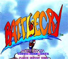 Title screen of Battlecry on the Arcade.