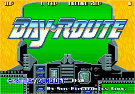 Title screen of Bay Route on the Arcade.