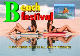 Title screen of Beach Festival World Championship 1997 on the Arcade.