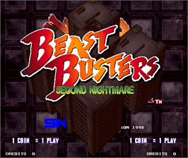 Title screen of Beast Busters 2nd Nightmare on the Arcade.