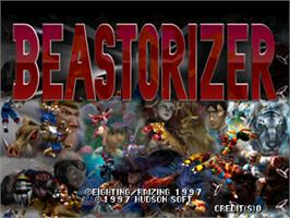 Title screen of Beastorizer on the Arcade.