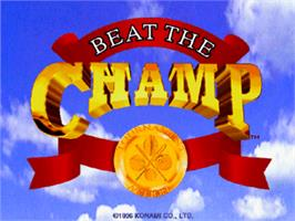 Title screen of Beat the Champ on the Arcade.