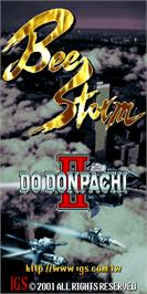 Title screen of Bee Storm - DoDonPachi II on the Arcade.