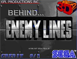 Title screen of Behind Enemy Lines on the Arcade.