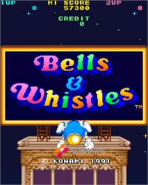 Title screen of Bells & Whistles on the Arcade.