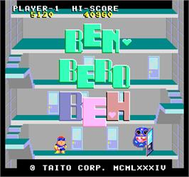 Title screen of Ben Bero Beh on the Arcade.