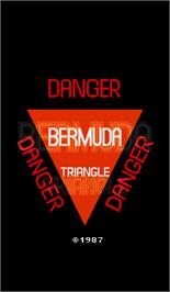 Title screen of Bermuda Triangle on the Arcade.