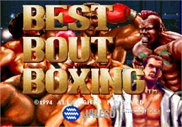 Title screen of Best Bout Boxing on the Arcade.